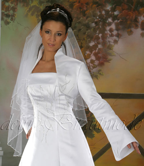 bolero brautjacke jacke glassteinchen strass hochzeit ebay. Black Bedroom Furniture Sets. Home Design Ideas