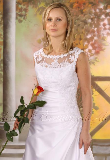 Hochzeitskleid Brautkleid Spitze Pailletten Perlen Schulter bedeckt ...