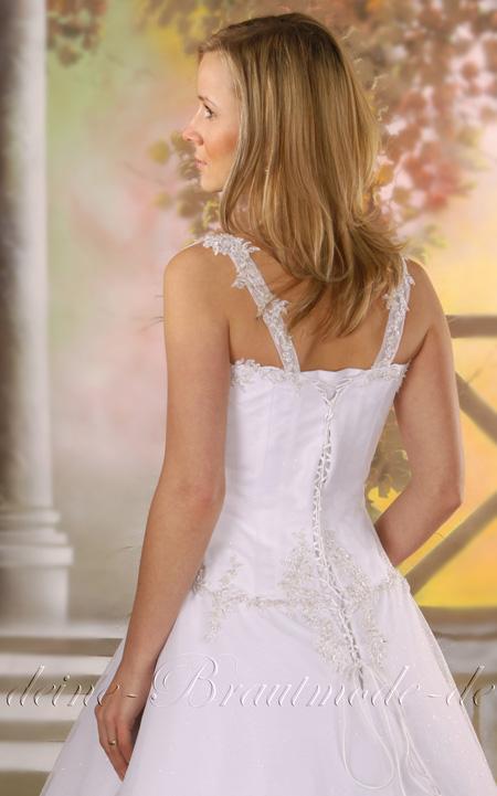 Details about Hochzeitskleid Brautkleid Hochzeit Kleid Tüll Träger ...