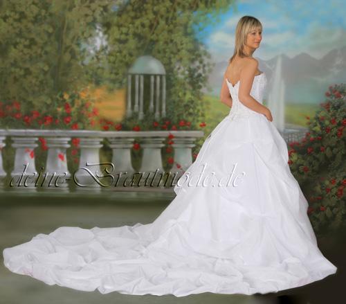 Details zu Hochzeitskleid Brautkleid Corsagenkleid Schleppe neu 1A