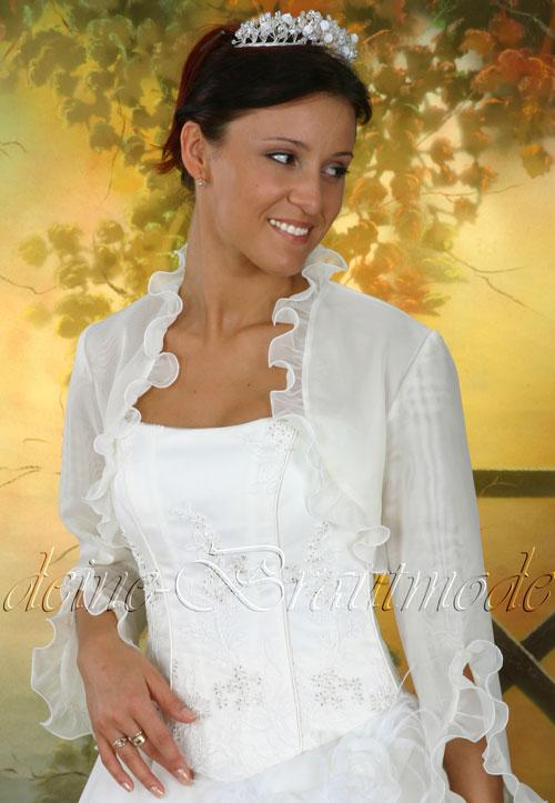 Brautbolero Bolero Jacke weiß ivory elfenbein neu z. Brautkleid ...