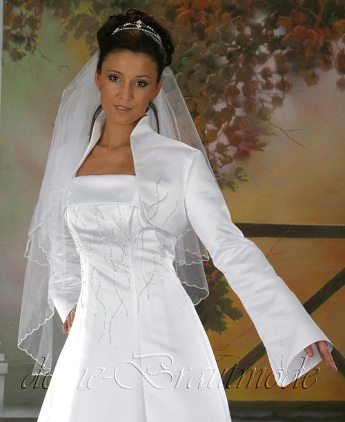 Hochzeitskleid Brautkleid Bolerojacke Hochzeit Kleid Träger Bolero ...