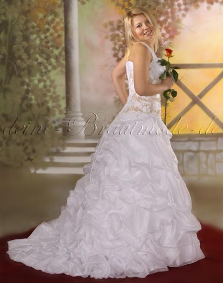 Hochzeitskleid Brautkleid Schleppe Neckholder Duchesse-Herzogin ...