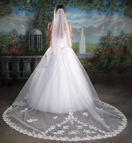 Brautkleid Schleppe Dreiteiler Hochzeitskleid Asfour Kristallen ...