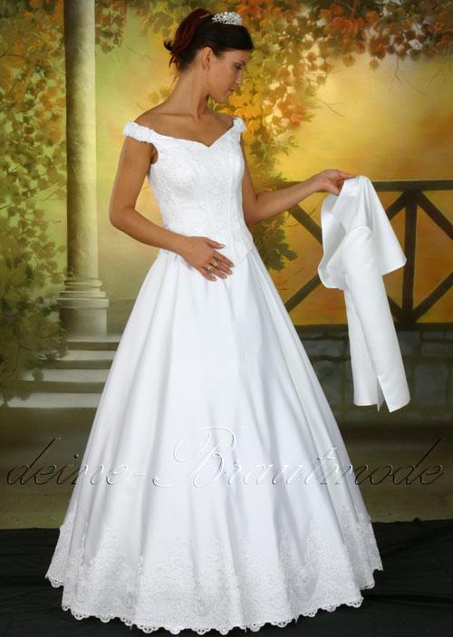Hochzeitskleid Bolero Brautjacke Brautkleid Spitze Träger Kleid ...