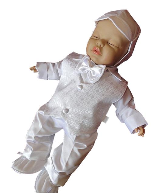 Taufanzug Festanzug Babyanzug Anzug Junge Baby Taufe Weste Hemd Mütze Fliege